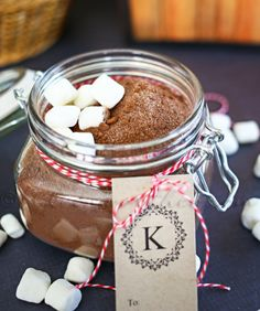 This hot chocolate mix makes an easy holiday gift.