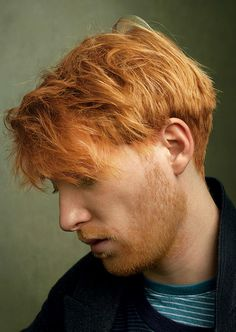 Domhnall Gleeson photographed by Annie Leibovitz, for Vogue, 2014