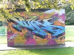 Graffiti art wall installation, Walsall Arboretum, Walsall, England