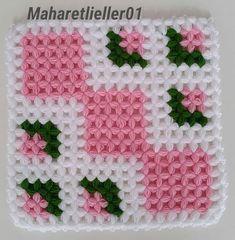 This Pin was discovered by ZEY Crochet Girls Dress Pattern, Love Crochet, Crochet Motif, Beautiful Crochet, Crochet Designs, Crochet Flowers, Crochet Stitches, Crochet Baby, Crochet Patterns For Beginners