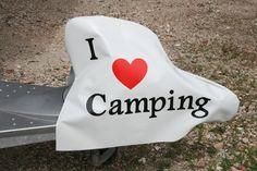 Wohnwagen Deichselhaube(I Love Camping) von Haubentraum auf DaWanda.com