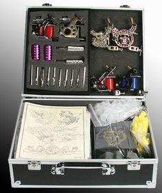 6 Gun Tattoo Machine Kit Tattoo Gun Kit By JRFOTO S-T06 Tattoo Kit.... im so getting this.. asap..