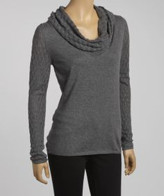 Charcoal Esme Cowl Neck Top | Daily deals for moms, babies and kids
