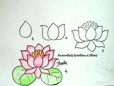 How to draw an easy flower