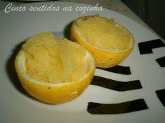 Cinco sentidos na cozinha: Sorvete de limão - (Sorbetto al  limón)