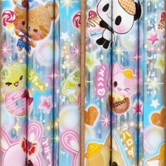 """kawaii glitter pencil with animals and sweets by Kamio. $1.70. length: 17.6cm (6.9""""). made in Japan, very good quality, super cute design, perfect for your collection, for school, kindergarten or office. 1 pencil, pencil lead: 2B. by Kamio, Import from Japan. glitter wooden pencil with kawaii rabbits, bears, cats, dogs and sweets. wooden pencil with kawaii rabbits, bears, cats, dogs and sweets from Japan"""