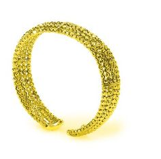 Yellow Gold Plated 925 Sterling Silver Officina Bernardi 5 Row Bombee Bracelet from The Moon Collection