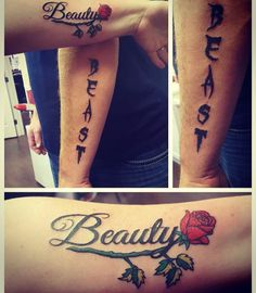Valentine's Day Presents  Beauty and the Beast couples tattoo
