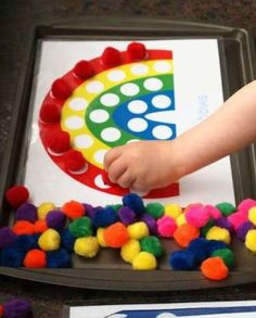 Printables for pom pom activities for kids kids-crafts Kids Crafts, Craft Activities For Kids, Educational Activities, Toddler Crafts, Projects For Kids, Preschool Activities, Motor Activities, Cookie Sheet Activities, Sewing Projects
