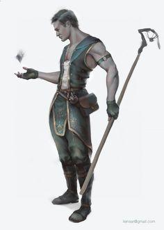Male human, aasimar greyhair eyescovered paleskin sorcerer, warlock, wizard noarmor noweapon magic, staff nopet nomount fullbodyview
