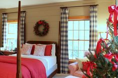 Master bedroom at Christmas Talk of the House