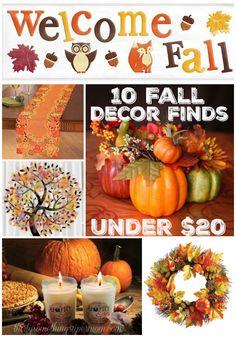 10 Fabulous Fall Decor Finds for under $20 #ad #Fall #FallDecor