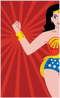 Wonder Woman Print by AaronFreyComics on Etsy