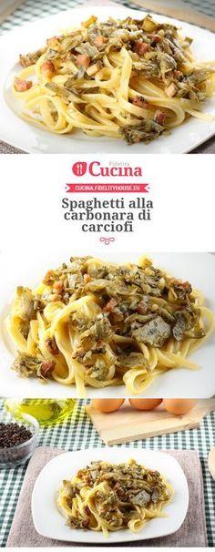 Spaghetti alla carbonara di carciofi
