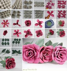 How Creative Are These Egg Carton Roses