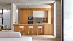 Image 3 of 25 from gallery of Glebe House / Nobbs Radford Architects. Courtesy of Nobbs Radford Architects Wooden Staircase Design, Wooden Staircases, Modern Staircase, Cabinet D Architecture, Interior Architecture, Interior Design, Architects Sydney, Luxury Kitchens, Victorian Homes