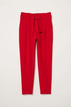 c18bf12d689b Ankle-length trousers - Red - Ladies | H&M GB 4 Red Trousers Outfit,