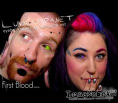 Sclera tattoos on Joeltron and Naepier by Howie Sclera Tattoo, Body Mods, Septum Ring, Ink, Eyes, Tattoos, Body Modifications, Irezumi, Tattoo