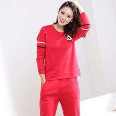 505d8060bf35b Big Yards M-3XL Women Pajamas Sets 100% Cotton Nightwear Spring Autumn Long  Sleeve Pyjamas O-Neck Sleepwear Female Pijamas Mujer
