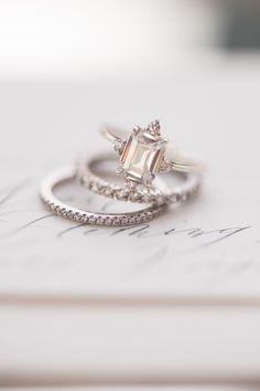 unique engagement ring photo Jenny B Photos http://ruffledblog.com/ethereal-wedding-inspiration-with-vintage-accents