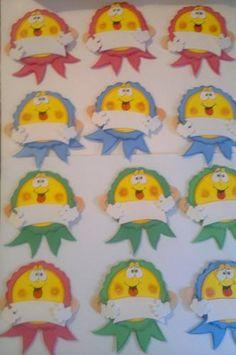 Distintivos Escolares Niños Y Niñas Preescolar En Foami