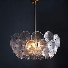 Glass Disc Chandelier #westelm $499 http://www.westelm.com/products/glass-disc-chandelier-w1156/?pkey=call-lighting&cm_src=all-lighting||NoFacet-_-NoFacet-_--_-
