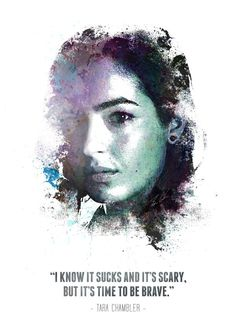 """The Walking Dead Character Quotes Tara Chambler #Displate artwork by artist """"Swav Cembrzynski"""". Part of a 21-piece set featuring artwork based on characters from the popular The Walking Dead TV series. £40 / $54 per poster (Regular size) #TheWalkingDead #TWD #Walker #Walkers #Zombie #Zombies #AbrahamFord #BethGreene #CarlGrimes #CarolPeletier #DarylDixon #EugenePorter #GlennRhee #Lucille #MaggieGreene #Michonne #Negan #RickGrimes"""