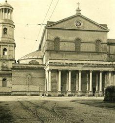 Italy Roma Saint Paul Church Facade Old NPG Stereo Photo 1900