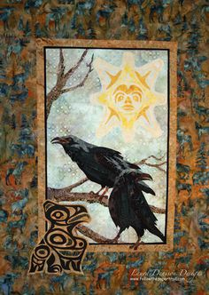 The Paper Trail: Birds of a Feather.....Raven quilt by Laura Denison