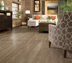 Armstrong LUXE Plank Timber Bay Barnyard Gray