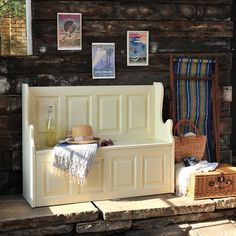 Bourton Painted Large Painted Storage Bench (M321) with Free Delivery | The Cotswold Company - 240-p