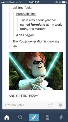 The Potter generation is growing up...