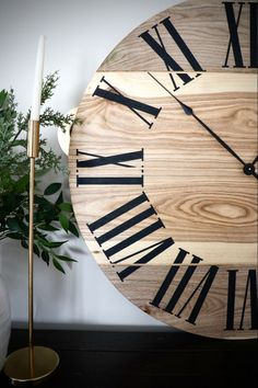 "36"" hackberry wall clock. Free shipping Wooden Clock, Wooden Walls, Popular Tree, Handmade Clocks, Solid Wood, Hardwood, Creamy White, Ranges"