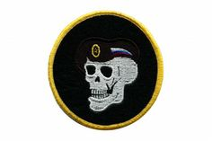 SLEEVE PATCH AIRBORNE SKULL (BLACK BERET). An informal, decorative patch with the image of a skull in the paratrooper's beret.  The skull emblem is originated from the pirates', and the like daredevils', tattoos. In the Soviet and then the Russian army, this emblem is associated with the wars in Afghanistan and Chechnya. #patch #sleeve #millitary #gift #souvenir #skull #blackberet #skeleton #smile #death #spetsnaz #airborne #usa #ukraine #EU