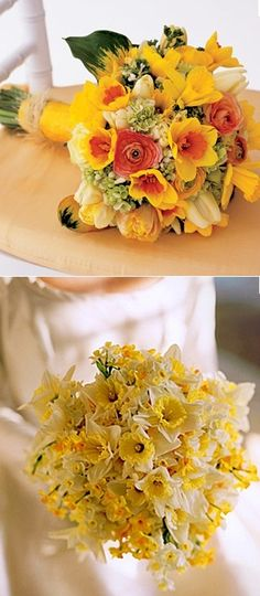 Daffodils. (from http://www.budgetbridesguide.com/spring-wedding-ideas-daffodil-wedding)