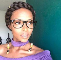 Halo Braids, Natural Hair, Make Up, Black Hair, Black Girl Girls Natural Hairstyles, African Hairstyles, Braided Hairstyles, Emo Hairstyles, Pelo Natural, Natural Hair Tips, Natural Hair Styles, Haircut Styles For Women, Short Haircut Styles