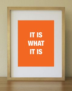 Colorful daily Quote for your home or office Orange by Artualized,