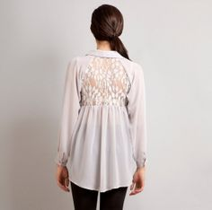 READY TO SHIP Love Lace back raglan button down by stylemadehere, $54.99