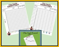 Clip Card Record Charts -- FREE - Its Free! : Little Learning Lovies Store, Where Love and Learning Live Together