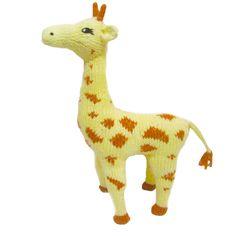 Giraffe Plush Toy, Handmade, Organic Cotton