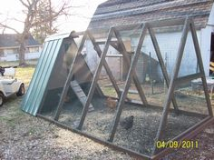 enclosed run pics a frame chicken coopchicken - A Frame Chicken House Plans