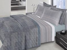 Kit Colcha/Cobre-Leito King Size Santista - Platinum Dubai 3 Peças 200 Fios com as melhores condições você encontra no Magazine Nivaldo. Confira!