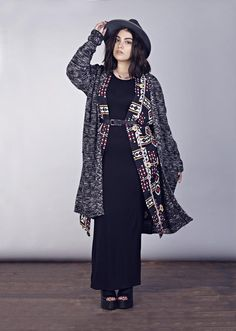 Nadia Albouhosn models upcoming Boohoo plus size line. Now THIS is grunge chic.