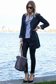 trench coat feminino azul marinho - Pesquisa Google