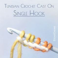 Tutorial. A casting on technique for Tunisian crochet, where you only need one hook. Easier and faster than hooking into a row of chains.