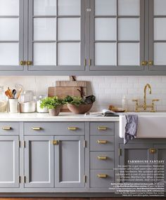 Windows on cabinet doors. I tried this with mirror behind glass. Reflective and hides stuff. Makes the room look bigger.