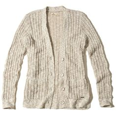 Hollister Textured Boyfriend Cardigan ($40) ❤ liked on Polyvore featuring tops, cardigans, oatmeal, button front top, slit tops, textured cardigan, cardigan top and boyfriend tank top