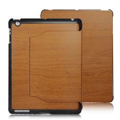 Elegant iPad leather case with distinct wood grain design Utilizes premium PU leather for interior and hard shell for exterior With foldable front cover that works as stand for different angle positions ideal for viewing, typing and reading Ipad 3 Cases, Iphone Cases, Ipad 4, Ipad Mini, Leather Case, Pu Leather, Ipad 2 Cover, Gadgets Online
