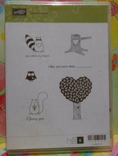 Stampin' Up! Retired LOVE BANDIT Clear Mount Valentine Stamp Set of 6