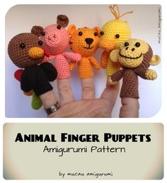 Animal Finger Puppets Amigurumi Pattern
